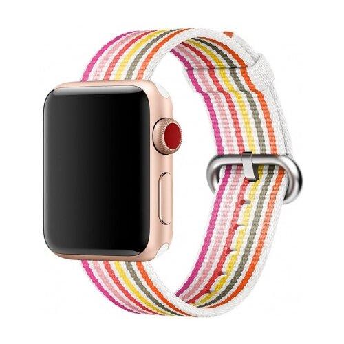 Купить CARCAM Ремешок для Apple Watch 42mm New Canvas Band красный/розовый/белый