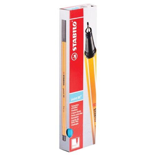 Купить STABILO Набор капиллярных ручек Point 88 0.4 мм, 10 шт., небесная лазурь цвет чернил, Ручки