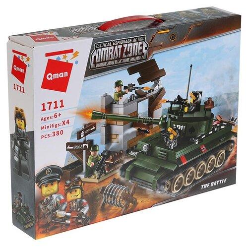 Конструктор Qman CombatZones 1711 Танк конструктор qman combatzones 1712 военная база