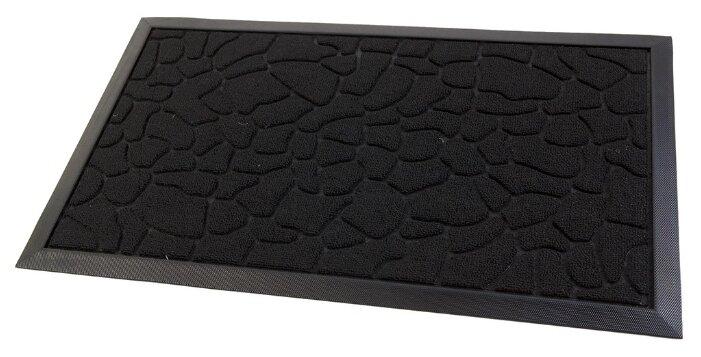 Придверный коврик Eco Floor Асфальт, размер: 0.75х0.45 м, черный