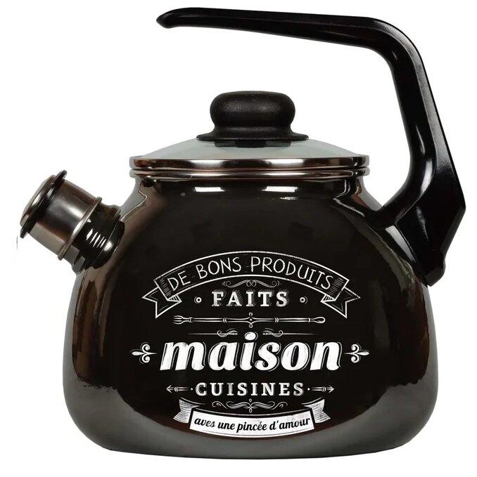 Купить Appetite Чайник со свистком 4с209я Maison 3 л, черный по низкой цене с доставкой из Яндекс.Маркета