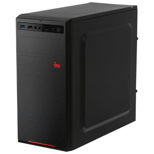 Настольный компьютер iRu Home 315 MT (1188115) Mini-Tower/Intel Core i5-9400F/16 ГБ/120 ГБ SSD+1 ТБ HDD/NVIDIA GeForce GTX 1050 Ti/Windows 10 Home черный настольный компьютер iru office 313 mt 1175752 mini tower intel core i3 9100f 4 гб 240 гб ssd nvidia geforce gt 710 dos черный