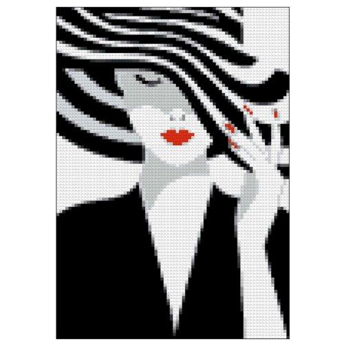 Купить Гранни Алмазная мозаика Леди грация (ag040) 19x27 см, Алмазная вышивка