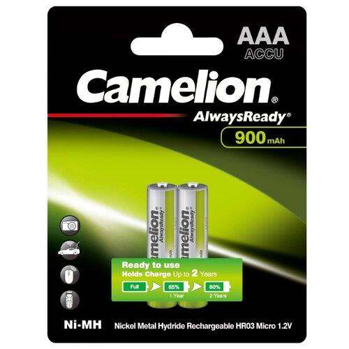 Аккумулятор Ni-Mh 900 мА·ч Camelion Always Ready AAA 2 шт блистер аккумулятор aa camelion 1 2v 2300mah ni mh bl 2 nh aa2300bp2 2 штуки 5221