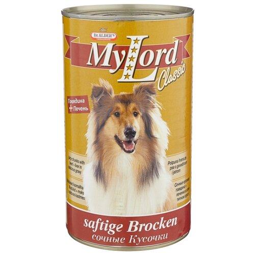 Корм для собак Dr. Alder`s (1.23 кг) 1 шт. МОЙ ЛОРД КЛАССИК печень + говядина кусочки в желе Для взрослых собак