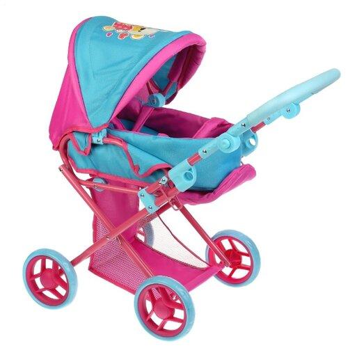 Купить Коляска для кукол Карапуз металлическая, 14 см резиновые колеса, регулируемая ручка, 66*36*66 см (63EG-20-B), Коляски для кукол