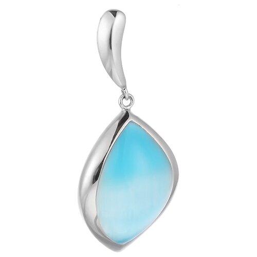 JV Подвеска со стеклом из серебра SP0390-US-002-WG jv кольцо с ювелирным стеклом из серебра b3198 us 011 wg размер 17 5