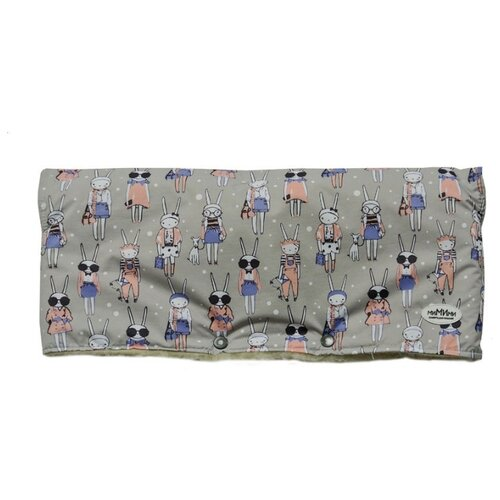 Купить МиМиМи Муфта для рук Fashion Rabbit серый, Аксессуары для колясок и автокресел