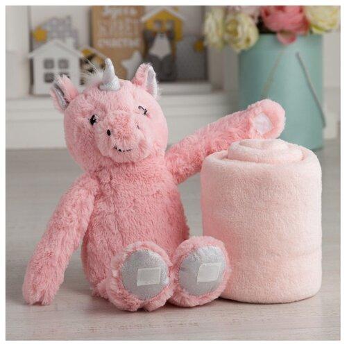 Купить Плед Крошка Я Единорог 75х100 см розовый, Покрывала, подушки, одеяла