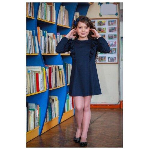 Купить Платье Ladetto 1С3 размер 30(2)-122, темно-синий, Платья и сарафаны