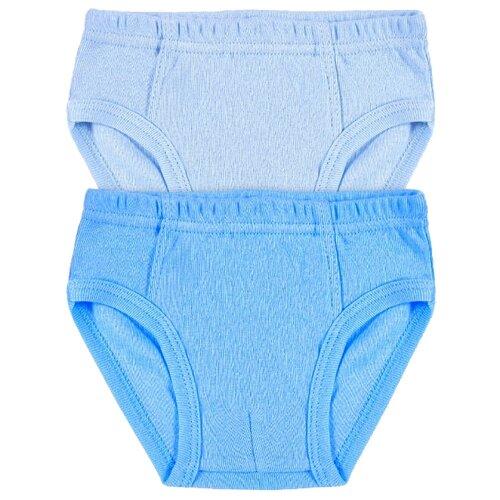 цена Трусы Веселый Малыш 2 шт., размер 116, голубой/темно-голубой онлайн в 2017 году