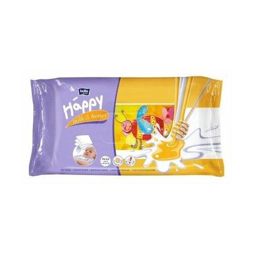 Влажные салфетки Bella Baby happy Milk&Honey 64 шт.