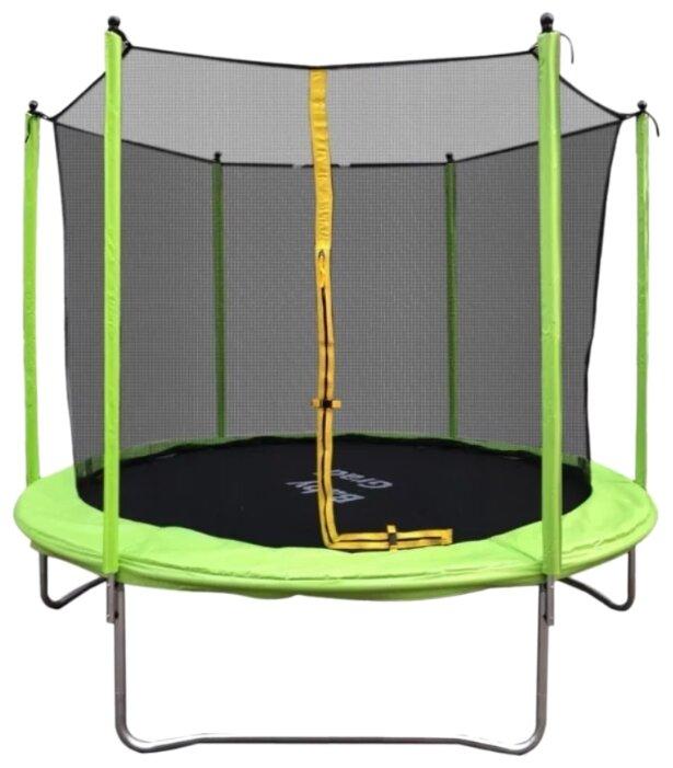 Каркасный батут BabyGrad Оптима 8 240х240х214 см зеленый