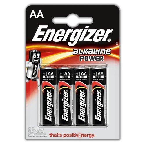 Батарейка Energizer Alkaline Power AA 4 шт блистер
