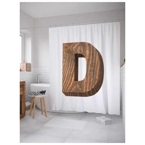 Штора для ванной JoyArty D из дерева 180х200 (sc-4532d) разноцветный