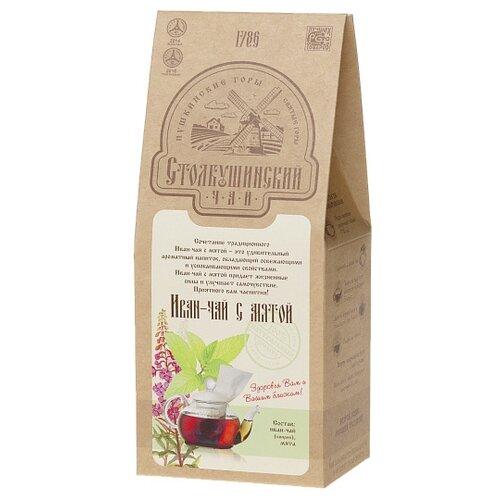 Чай травяной Столбушинский с мятой Иван-чай, 100 г чай листовой мама карелия иван чай карельский с мятой перечной 50 г