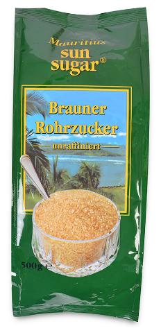 Сахар Mauritius Sun Sugar тростниковый коричневый кристаллический