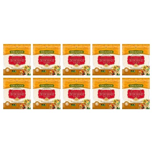 Delicados Лепешки Tortillas пшеничные бездрожжевые 10 шт 400 г