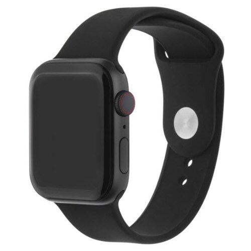 INTERSTEP Ремешок SPORT для Apple Watch 42/44 мм, силикон черный
