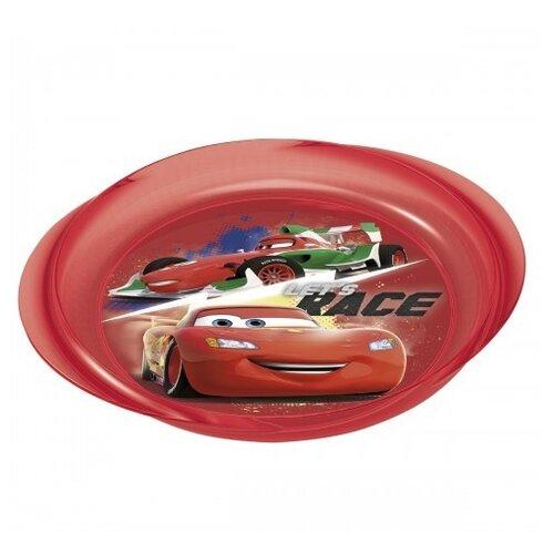 Фото - Stor Тарелка с ручкамиТачки Грани гонок 23,1х20,3 см красный stor тарелка леди баг 23 см красный