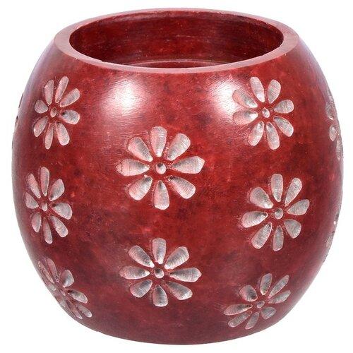 Банные штучки Испаритель и подсвечник 2в1 Цветы коричневый