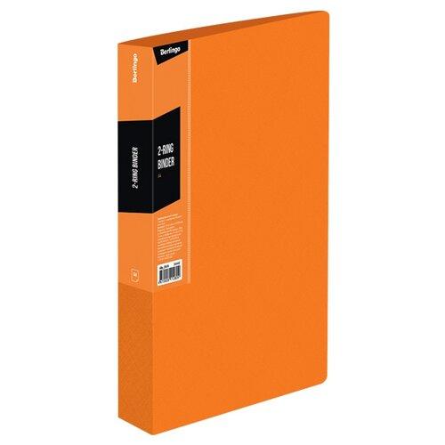 Купить Berlingo Папка на 2-х кольцах Color zone А4, пластик оранжевый, Файлы и папки