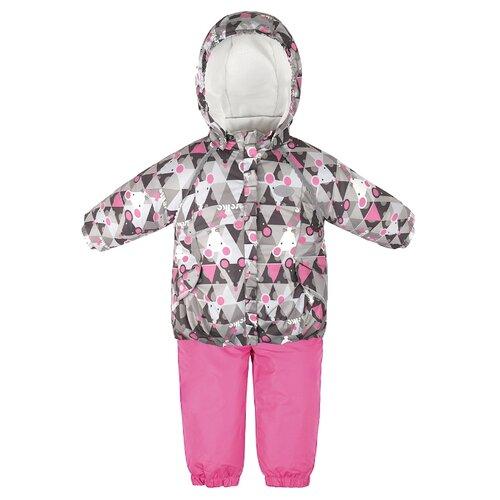 Купить Комплект с полукомбинезоном Reike размер 80, grey, Комплекты верхней одежды