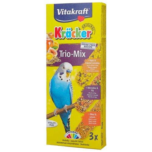 Лакомство для птиц Vitakraft Крекеры Trio-mix с медом, яйцом и фруктами (10605) 80 гЛакомства для птиц<br>