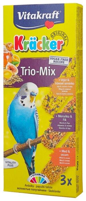 Лакомство для птиц Vitakraft Крекеры Trio-mix с медом, яйцом и фруктами (10605)