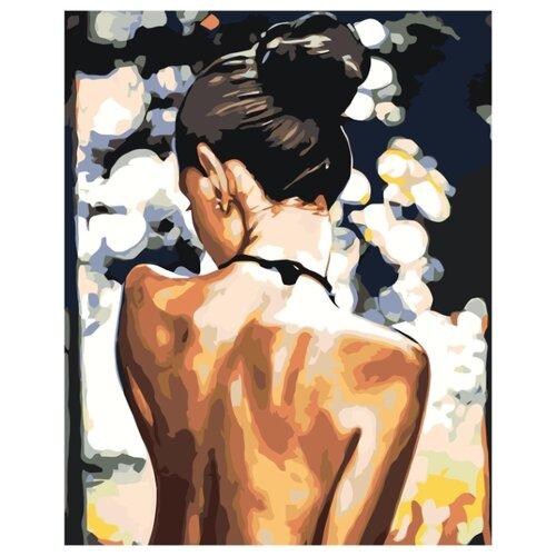 Девушка с обнаженной спиной Раскраска картина по номерам на холсте RO236 40х50