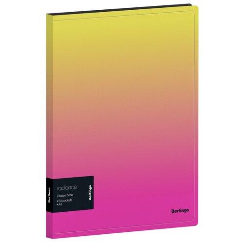 Фото - Berlingo Папка с 20 вкладышами и внутренним карманом Radiance, А4, 17 мм, 600 мкм, пластик желтый/розовый berlingo папка с 20 вкладышами и внутренним карманом radiance а4 17 мм 600 мкм пластик желтый розовый