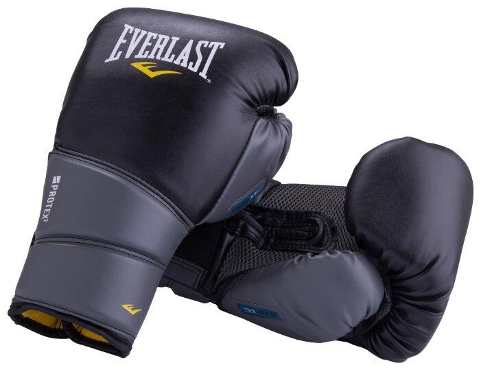 Перчатки боксерские EVERLAST Protex2 Gel PU 12oz черные LXL 3112 GLLXLU