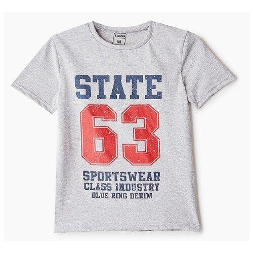 Футболка Elaria размер 146, серый футболка cherubino caj 61374 серый р 146