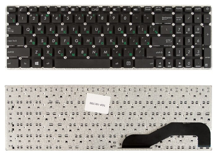 Купить Клавиатура для ноутбука Asus X540, X540L, X540LA, X540CA, X540SA Series. Плоский Enter. Черная, без рамки. PN: 0KNB0-610TRU00, 0KNB0-610TUS00. по низкой цене с доставкой из Яндекс.Маркета (бывший Беру)
