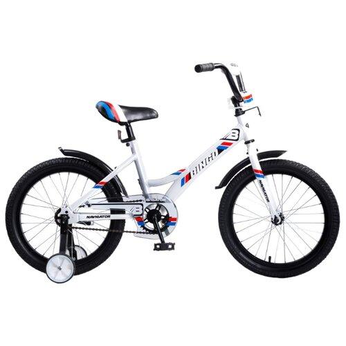 Детский велосипед Navigator Bingo (BМ18101) белый (требует финальной сборки) велосипед детский navigator вн20214 basic