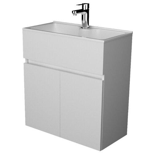 Тумба для ванной комнаты с раковиной 1Marka Mira, ШхГхВ: 60х30х65.2 см, цвет: белый глянец