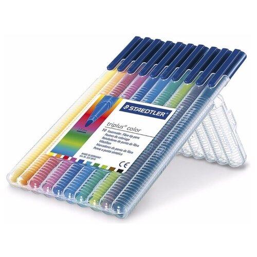 Купить Набор фломастеров Triplus Color , 10 цветов, Staedtler, Фломастеры и маркеры