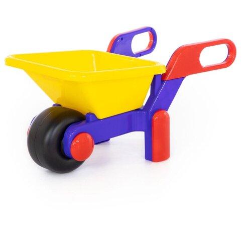 Купить Тачка Полесье №4 желтая/синяя/красная, Cavallino, Наборы в песочницу