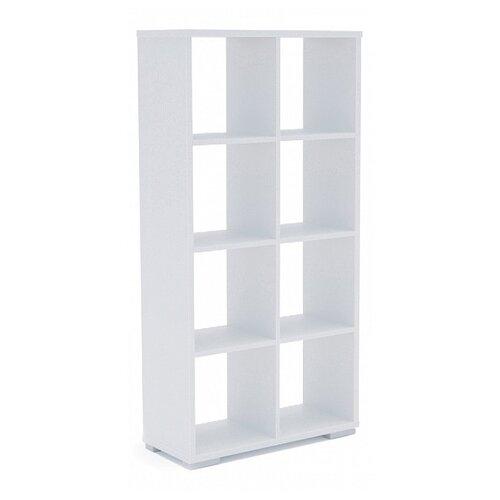 Стеллаж Мама Стильный 8 полок, материал: ЛДСП, ШxГxВ: 72х30х143 см, белый стеллаж стильный