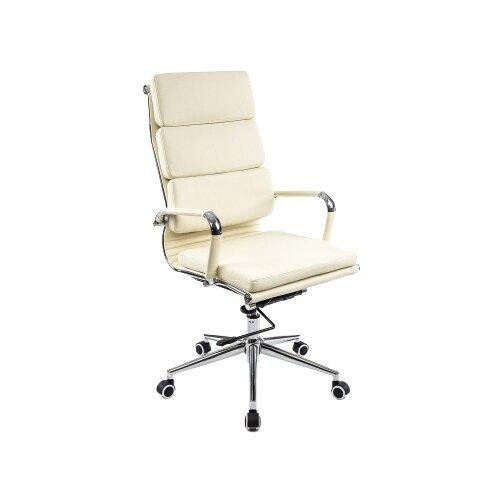 Фото - Компьютерное кресло Woodville Samora офисное, обивка: искусственная кожа, цвет: кремовый компьютерное кресло woodville rich офисное обивка искусственная кожа цвет коричневый