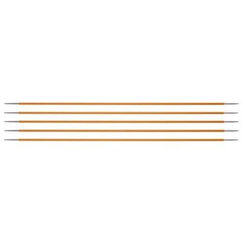 Купить Спицы Knit Pro Zing 47002, диаметр 2.2 мм, длина 15 см, янтарный