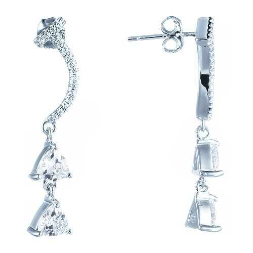ELEMENT47 Серьги из серебра 925 пробы с фианитами ME02507A_SR_001_WG- преимущества, отзывы, как заказать товар за 3900 руб. Бренд ELEMENT47