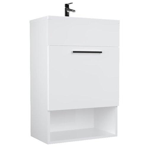 Фото - Тумба для ванной комнаты с раковиной 1Marka July П, ШхГхВ: 50х30х75 см, цвет: белый глянец тумба для ванной комнаты с раковиной am pm like напольная шхгхв 80х45х85 см цвет белый глянец