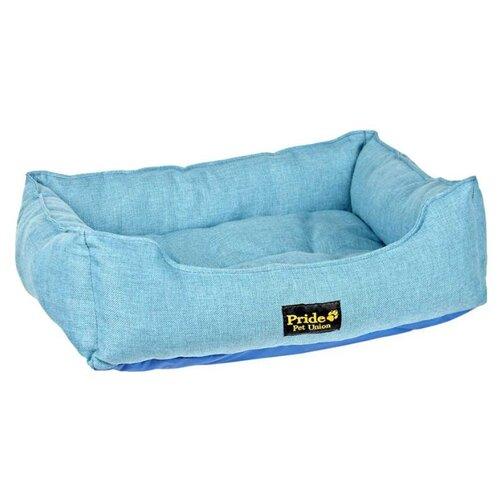 Лежак для собак PRIDE Прованс 90х80х25 см голубой