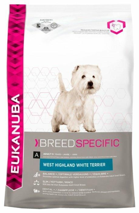 Корм для собак Eukanuba Breed Specific Вест-хайленд терьер курица