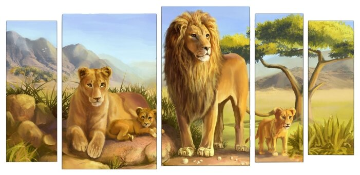 Модульная картина Картиномания Семья