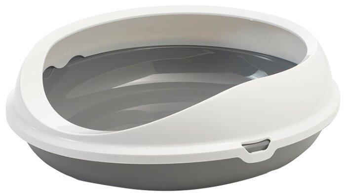 Туалет-лоток для кошек SAVIC Figaro 55х48.5х15.5 см белый/серый