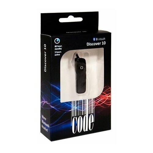 Bluetooth-гарнитура Code Discover 10 black поло code code co073emcfdb7