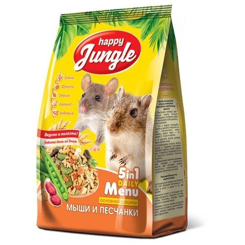 Корм для мышей и песчанок Happy Jungle 5 in 1 Daily Menu Основной рацион 400 г