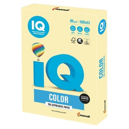 Фото - Бумага IQ Color A3 80 г/м² 500 лист. желтая пастель YE23 1 шт. бумага iq color а4 color 120 г м2 250 лист кораллово красный co44 1 шт
